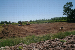 Terrassement de la plateforme de compostage de Lanxade (24)