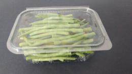 Barquette de haricots verts équeutés
