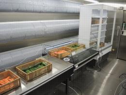 Dispositif expérimental pour un essai réfrigération et humidification des légumes ; ambiance, bac réfrigéré et meuble mural réfrigéré