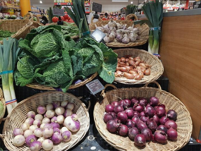 Rayon de légumes