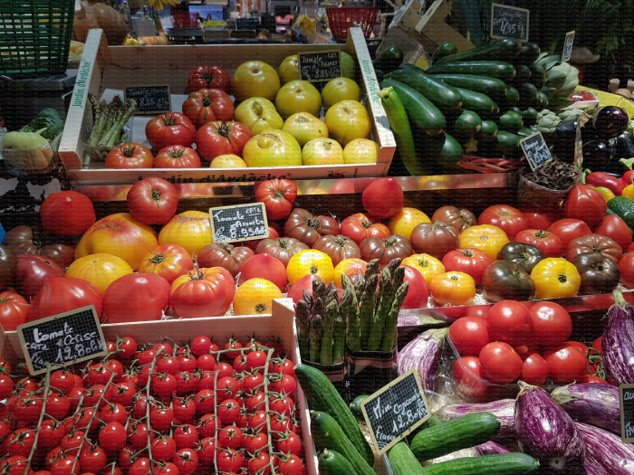 Rayon légumes : tomates, asperges, courgettes, aubergines...