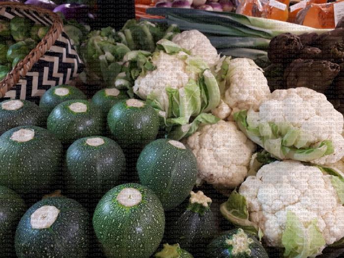 Rayon légumes : choux fleur, courgette